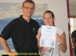 Friederike Sponagel, Spezialkurs Nitrox Basic Diver, 07.07.2013